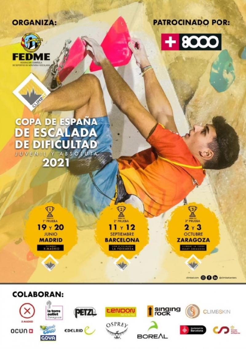1RA PRUEBA DE LA COPA DE ESPAÑA DE ESCALADA DE DIFICULTAD - Inscríbete